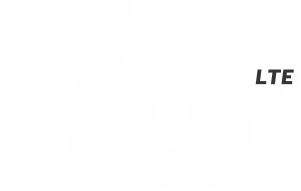 White 4G LTE logo