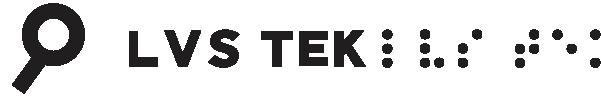 LVS Tek logo in black